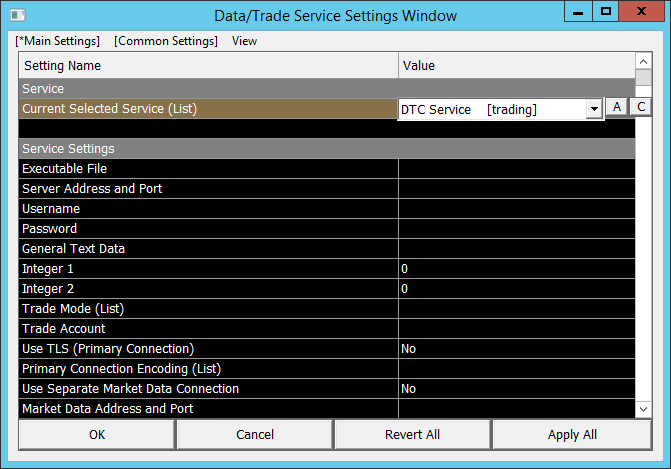 Data and Trading Communications (DTC) Protocol Test Client - Sierra