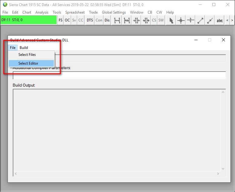 Advanced Custom Study/System Interface and Language (ACSIL) - Sierra
