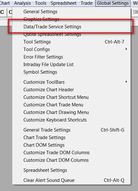 CQG Trading Platform Service - Sierra Chart